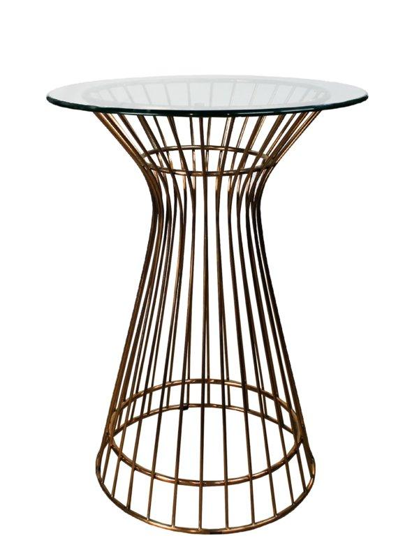 Стол коктейльный со стеклянной столешницей